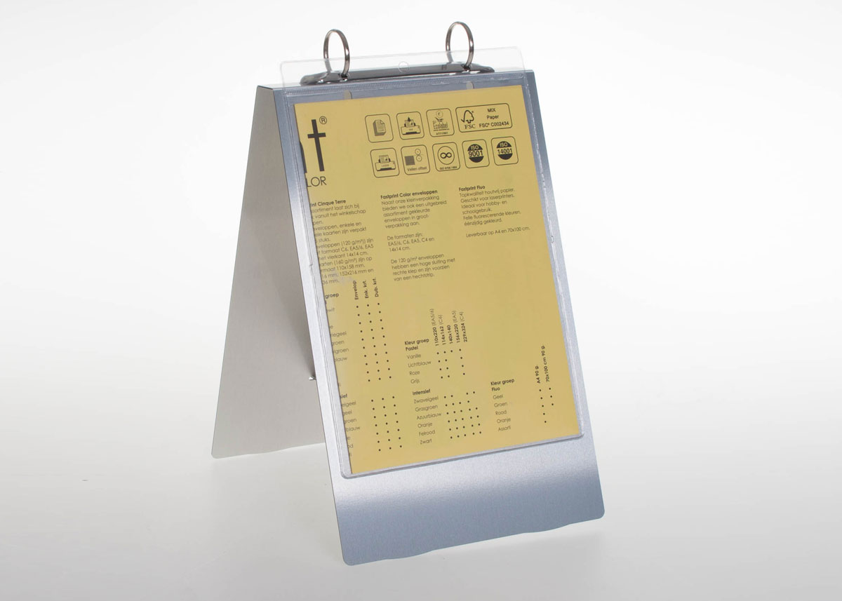 Aluminum Ring Flip Chart For A5 Pockets With A 2 Mechanism